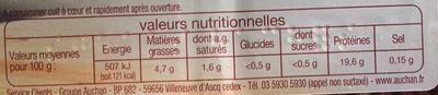 2 steaks hachés pur boeuf - Nutrition facts