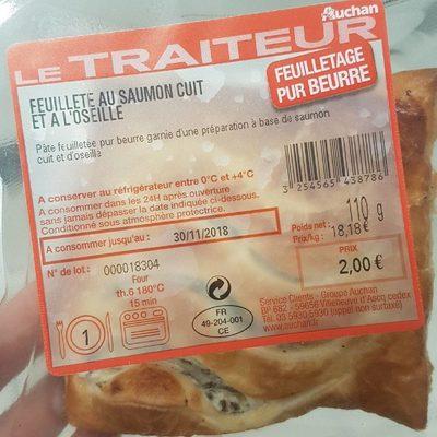 Feuilleté au saumon cuit et à l'oseille - Product - fr