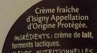 Mmm ! - Crème fraîche d'Isigny - Ingrediënten - fr