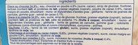 Auchan Pistache Chocolat - Aux Pepites De Chocolat - 6 Cônes - Ingredients