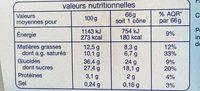 Auchan Pistache Chocolat - Aux Pepites De Chocolat - 6 Cônes - Nutrition facts