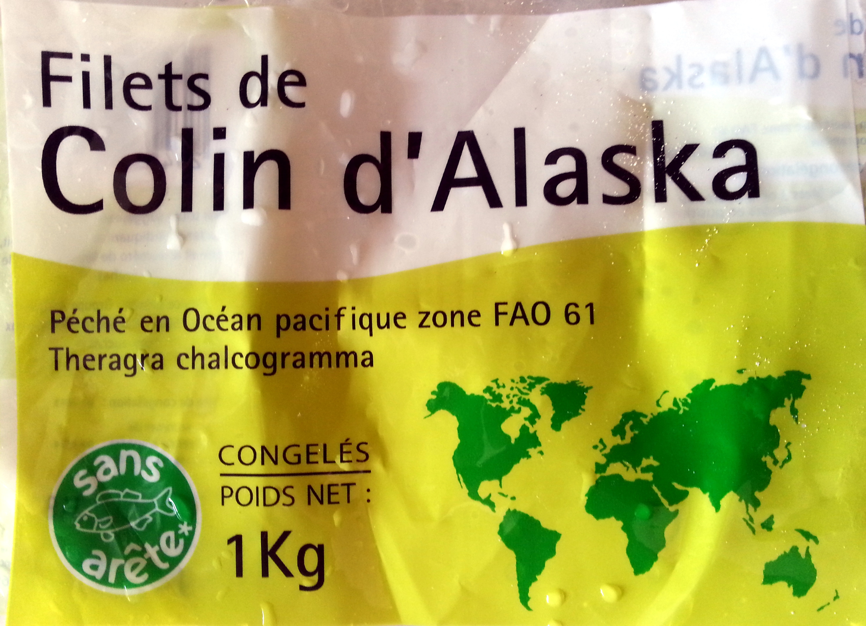 Filets de colin d 39 alaska congel s auchan 1 kg - Cuisiner du colin surgele ...