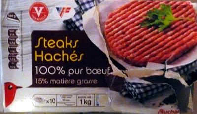 Steaks Hachés 100% pur boeuf 15% Matières Grasses - Product - fr