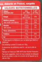 Steaks Hachés 100% pur boeuf 15% Matières Grasses - Voedingswaarden - fr