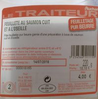 Feuilletée saumon oseille - Informations nutritionnelles - fr