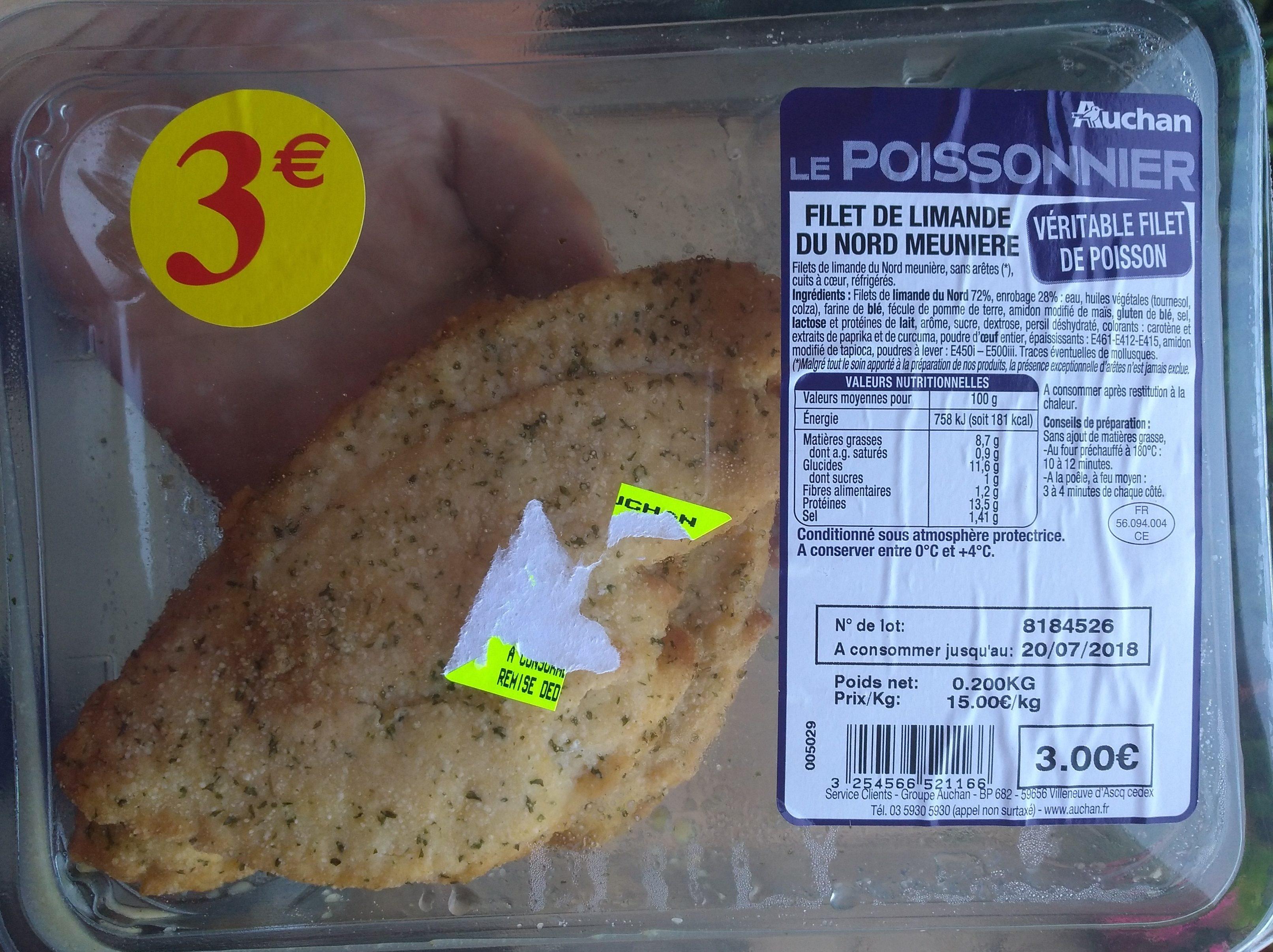 Filet limande du Nord meunière - Produit - fr