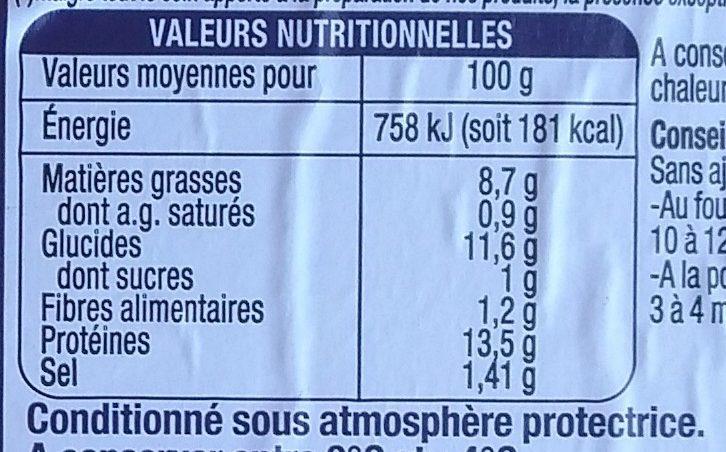 Filet limande du Nord meunière - Informations nutritionnelles - fr