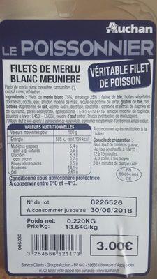 Filets de merlu meunière - Ingredients