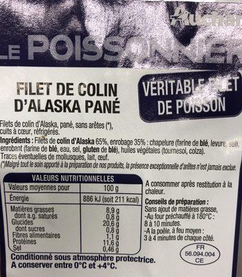 Filet de Colin - Ingrediënten