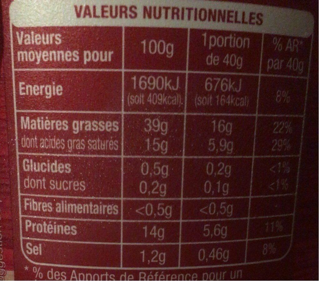 Auchan Rillette Du Mans 400G - Informations nutritionnelles - fr