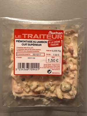 Le Traiteur - Piémontaise au jambon cuit supérieur - Prodotto - fr