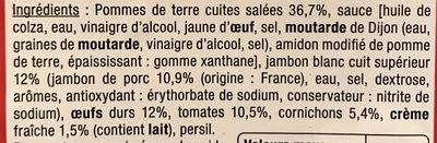 Le Traiteur - Piémontaise au jambon cuit supérieur - Ingredienti - fr