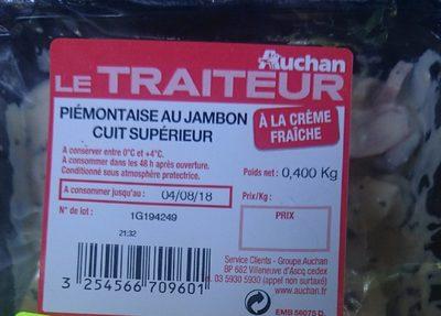 Piémontaise au jambon cuit supérieur - Produit
