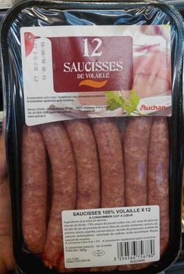 12 Saucisses de Volaille - Produit - fr