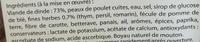 12 Saucisses de Volaille aux Herbes - Ingrédients - fr