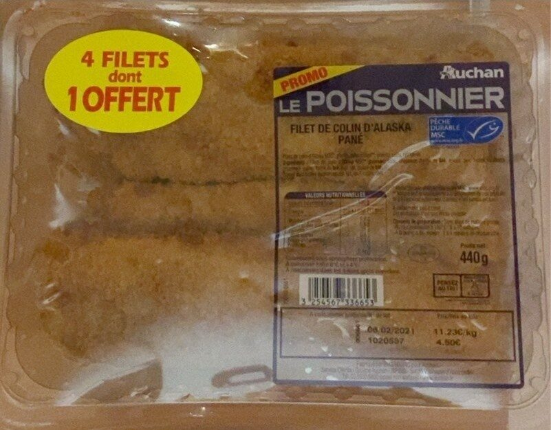 Filet de colin d'alaska pané - Product - fr