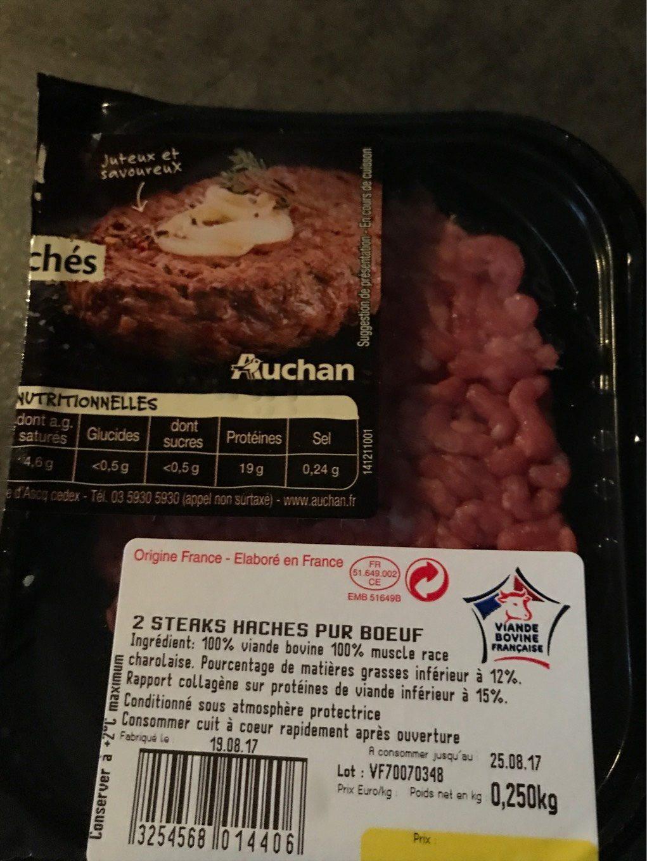 2 Steaks Hachés 10 % - Produit