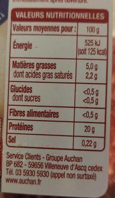 Steaks Hachés 5% - Informations nutritionnelles - fr