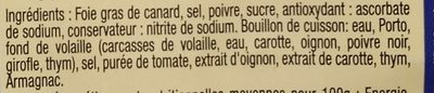 Foie gras de canard du Sud Ouest - Ingrediënten - fr