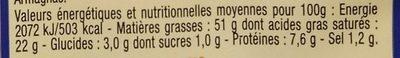 Foie gras de canard du Sud Ouest - Voedingswaarden
