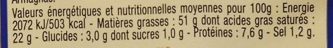 Foie gras de canard du Sud Ouest - Voedingswaarden - fr