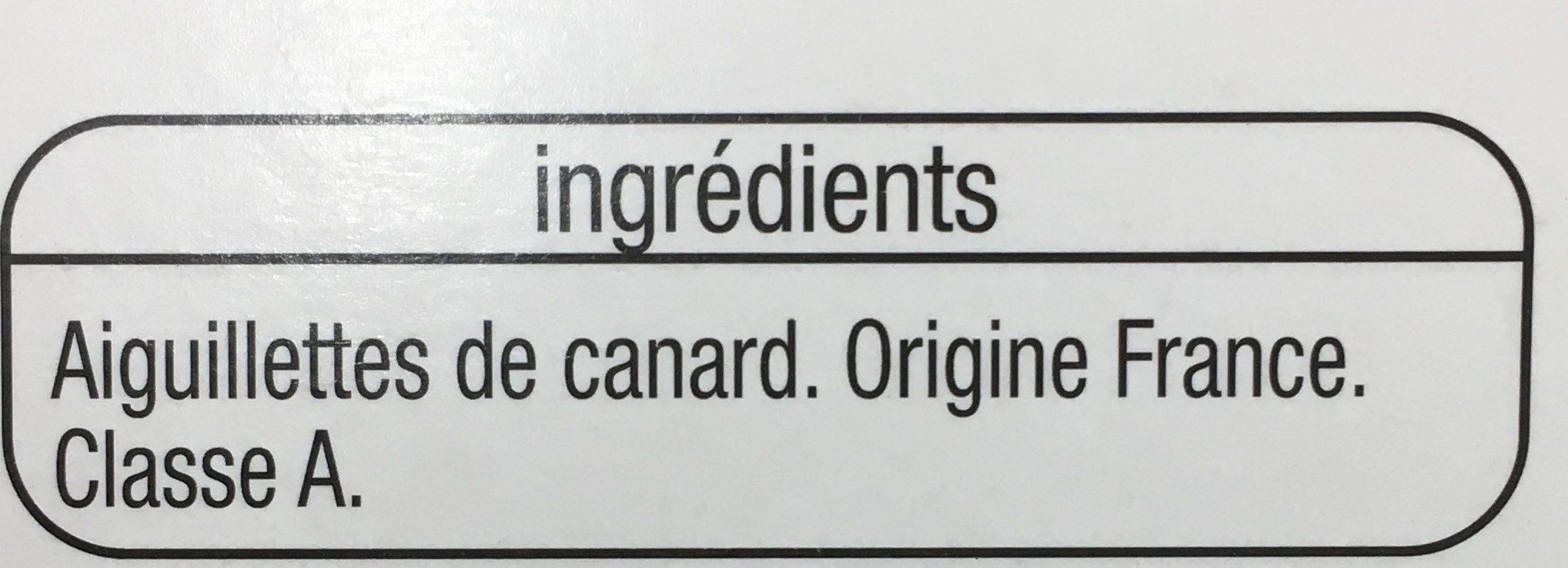 Aiguillettes canard - Ingrédients