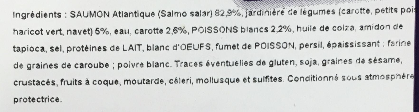 Darne de saumon label rouge farci - Ingredients - fr