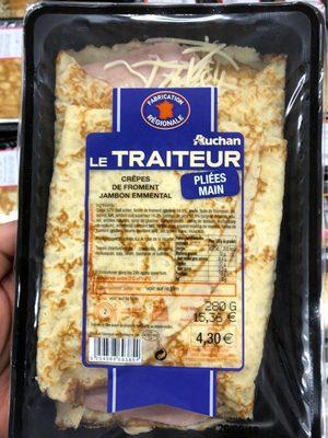 Crepes de froment jambon emmental - Produit - fr