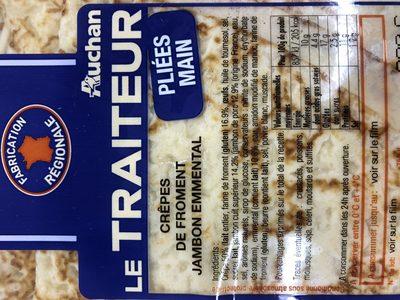 Crepes de froment jambon emmental - Ingrédients - fr