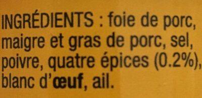 4 Pots De Paté Basque - Producto