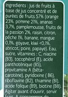 Nectar Multifruits Tropical - Ingrédients - fr