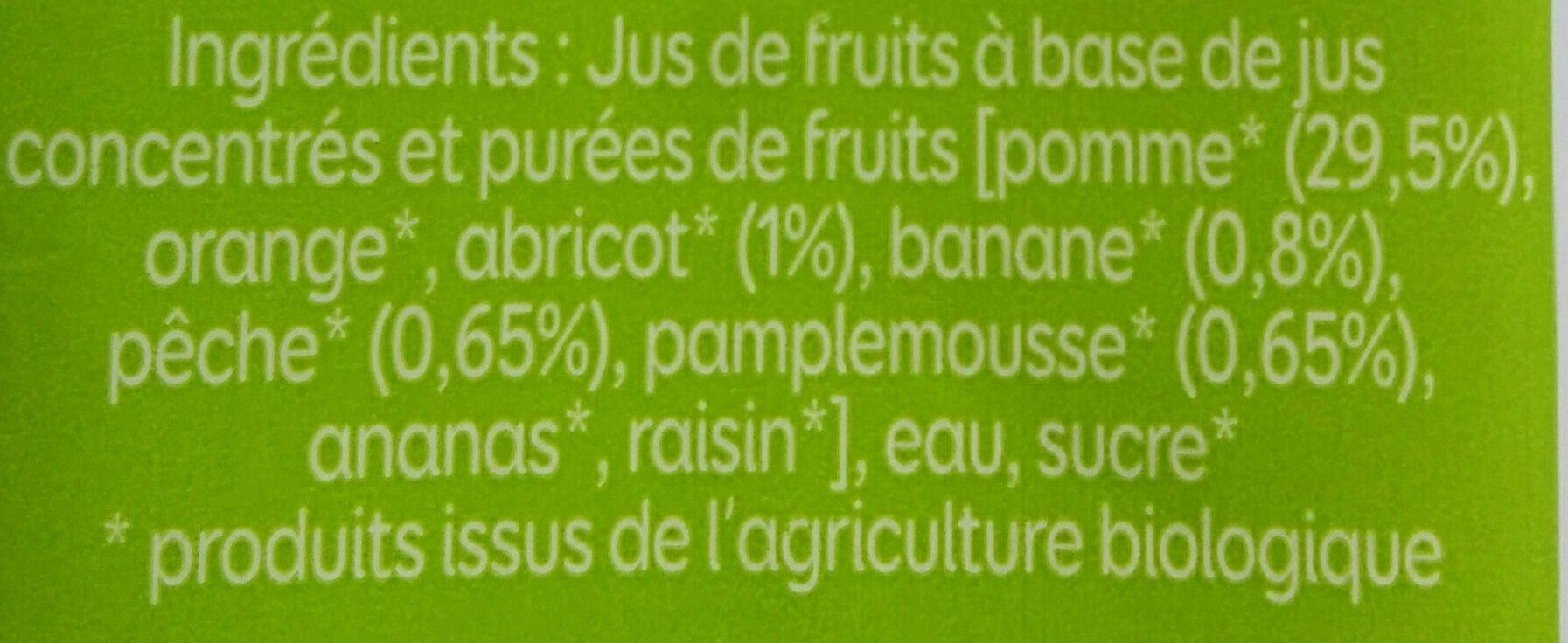 Le bio à emporter partout - Nectar multifruits - Ingrédients - fr