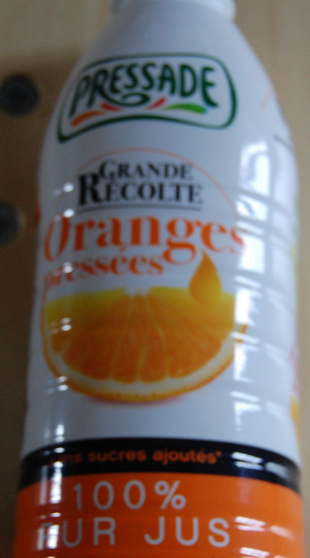 Oranges pressées Grande Récolte - Ingrediënten - fr