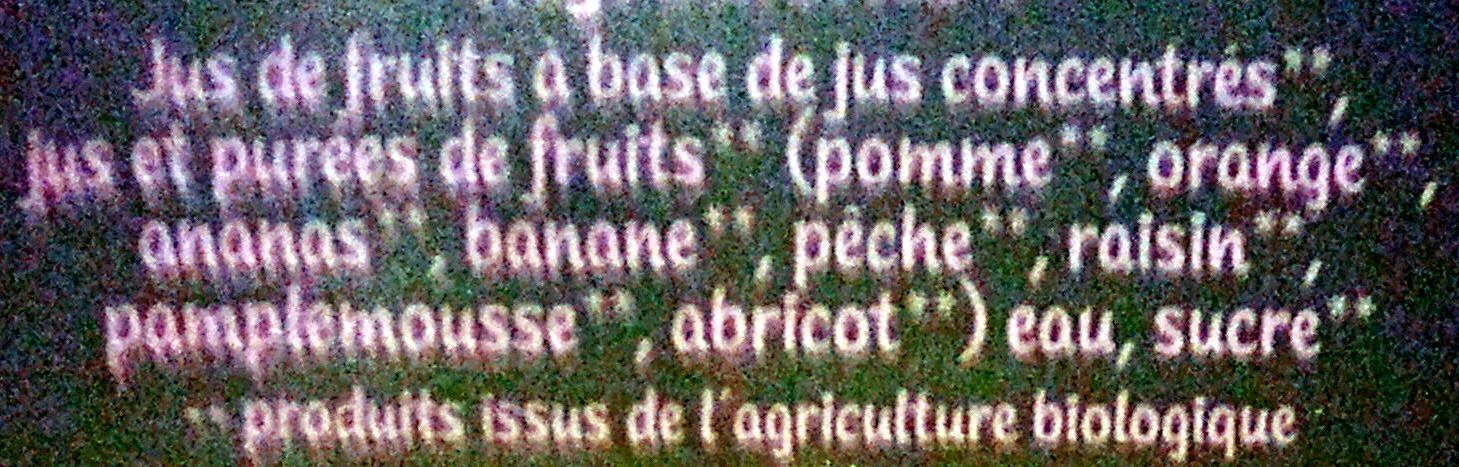 Le Bio Multifruits - Ingrediënten - fr