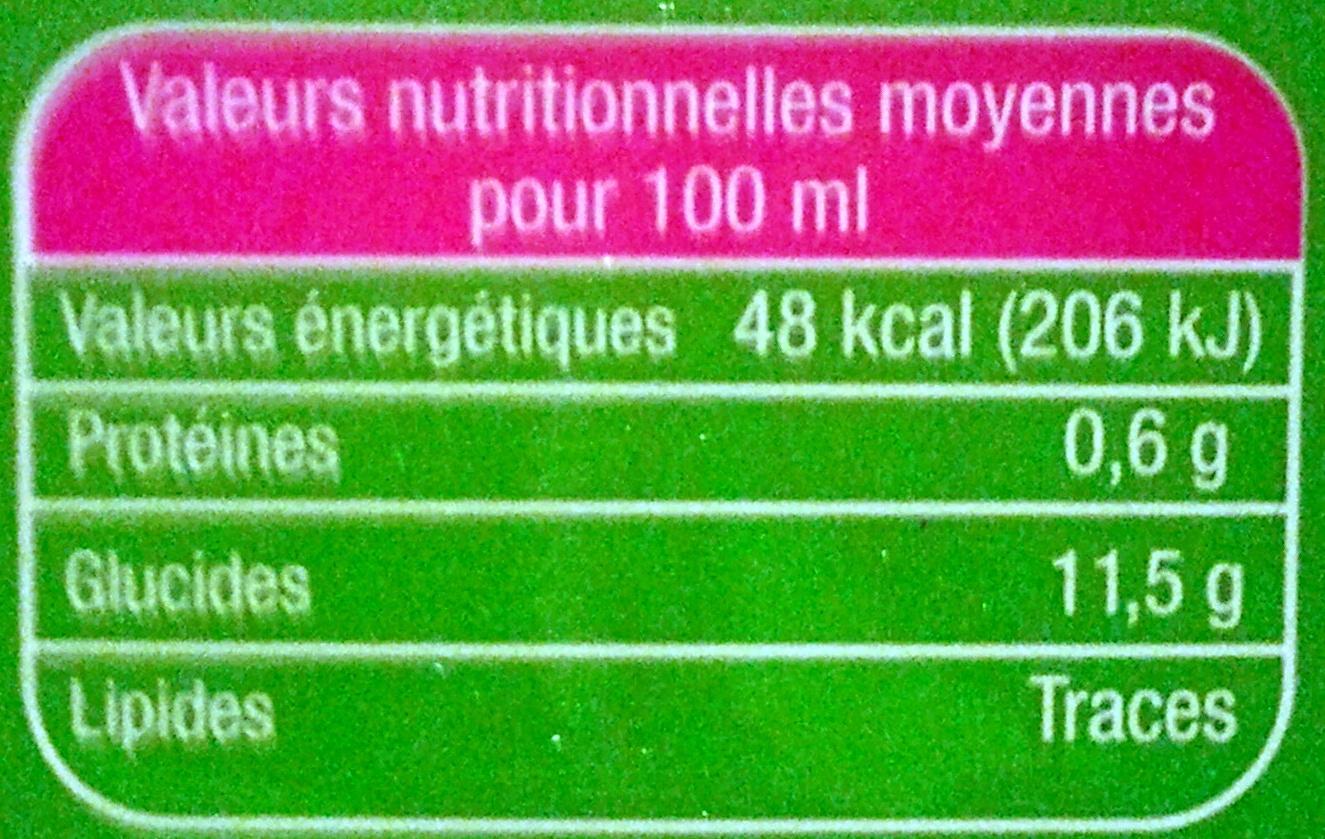 Le Bio Multifruits - Voedingswaarden - fr