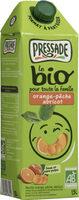 Jus d'orange pêche abricot bio - Produit - fr
