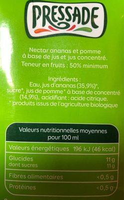 Pressade ananas bio - Ingrédients - fr