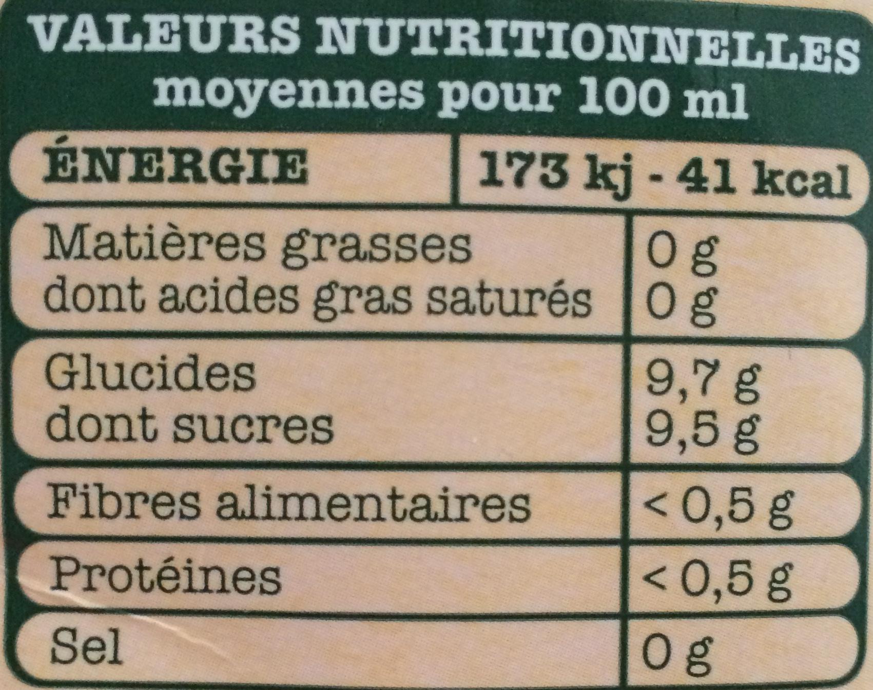 Cueillette Gourmande Orange Nectarine Abricot - Voedingswaarden - fr