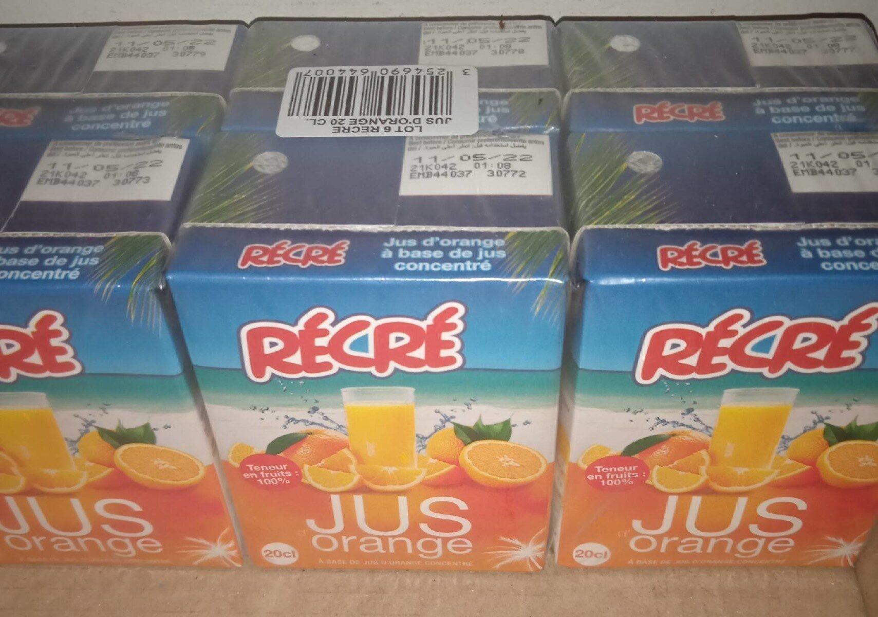 Lot 6 Recre 100% jus d'orange 20CL - Prodotto - fr
