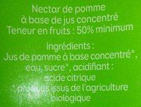 Nectar de pomme bio - Ingredienti - fr