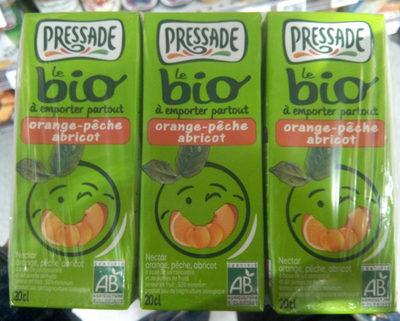 Bio Pressade nectar orange pêche abricot - Product - fr