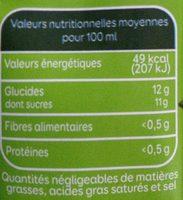 Bio Pressade nectar orange pêche abricot - Voedingswaarden - fr