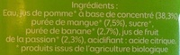 Mangue-Passion - Ingredienti - fr