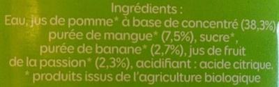 Mangue-Passion - Ingredients - fr