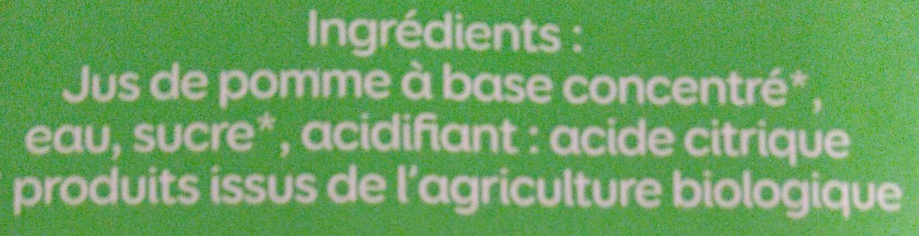 Le bio pomme - Ingrédients
