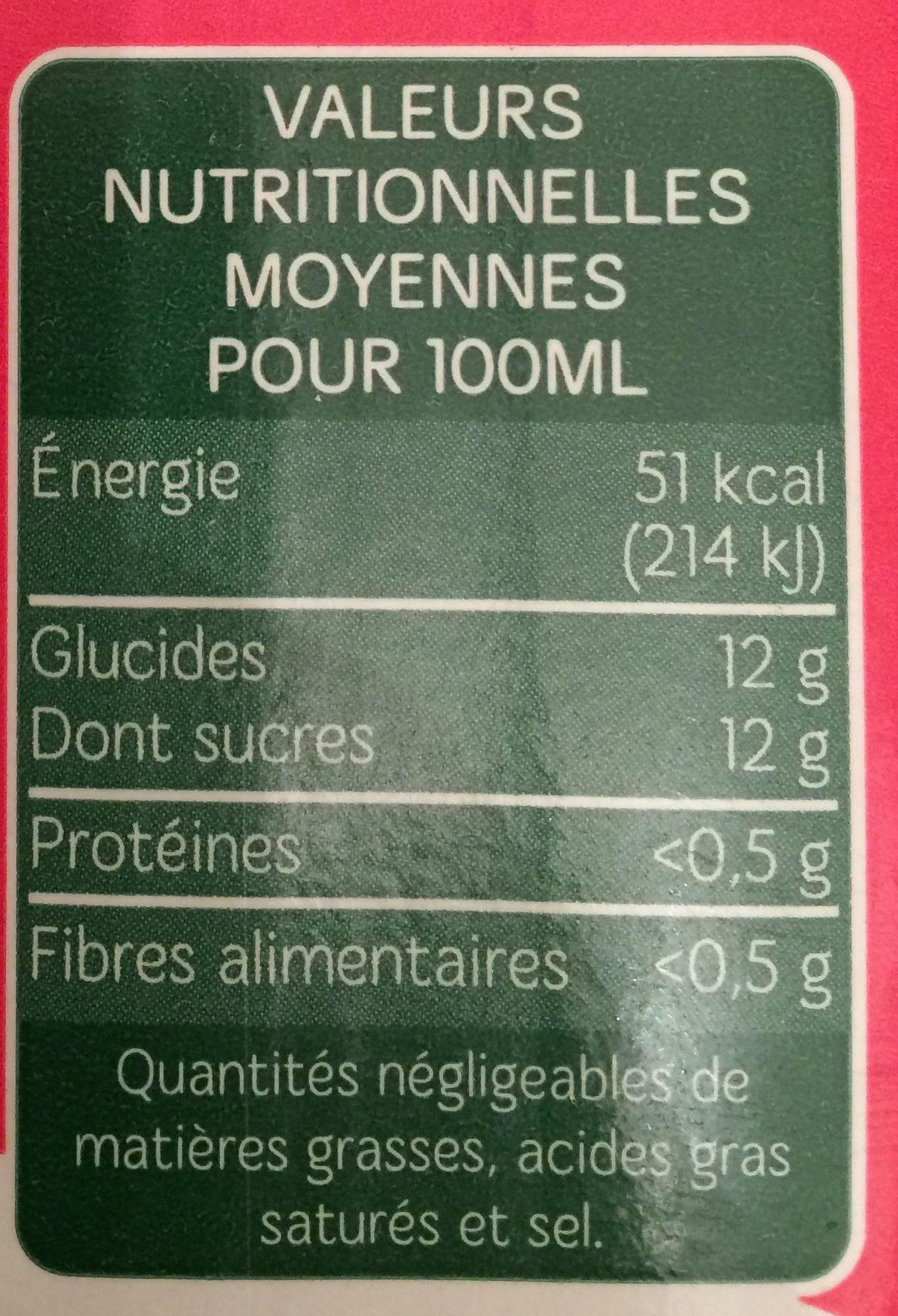 Jus Multifruits - Voedingswaarden - fr