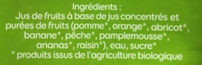 Le Bio Pour Toute La Famille Multifruits - Ingrediënten