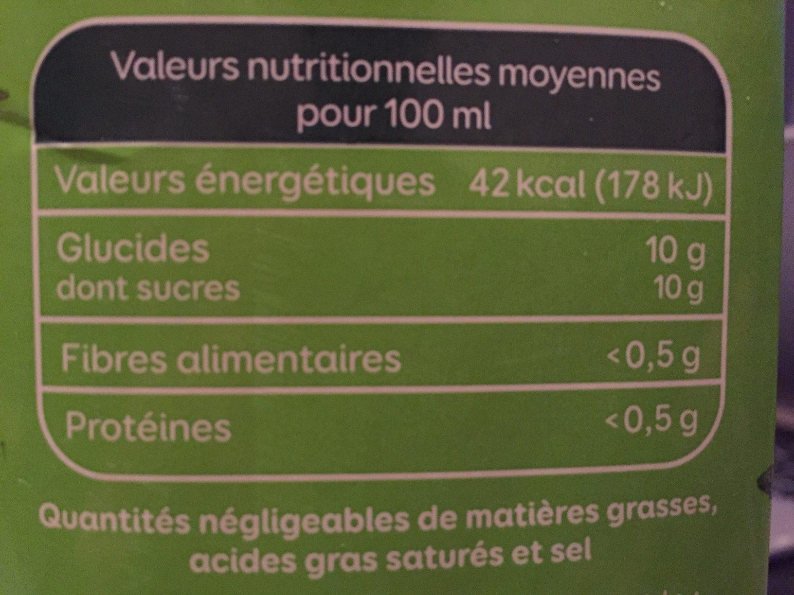 Le Bio Pour Toute La Famille Multifruits - Voedingswaarden