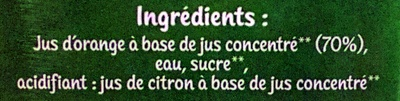 Le Bio Orange - Ingredients