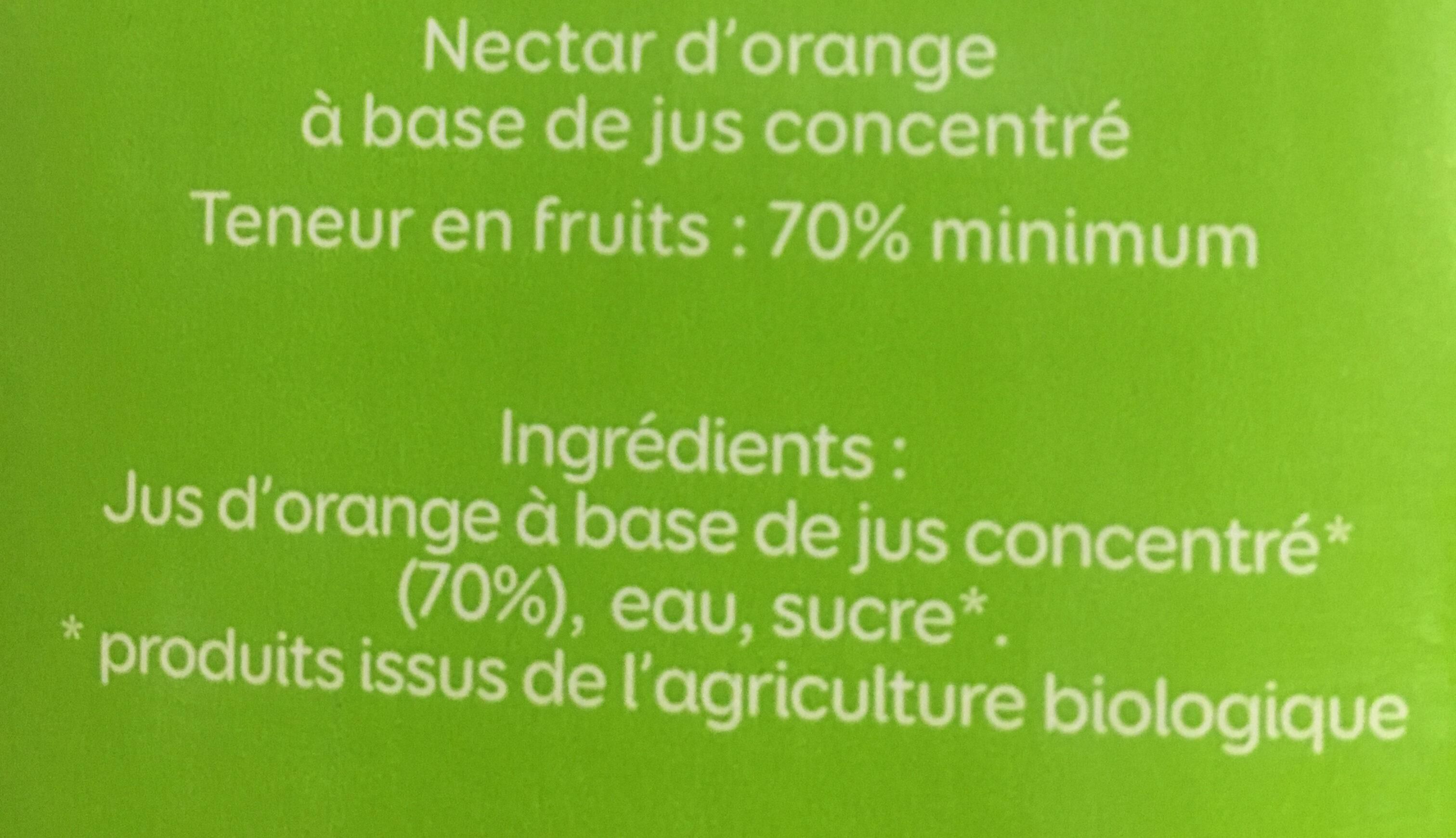 Le Bio Orange - Ingrediënten - fr